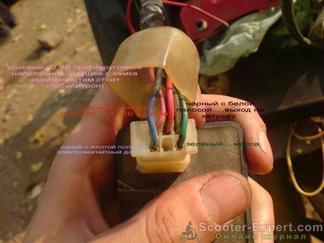 Элементы коммутатора Honda Dio 35 распиновка
