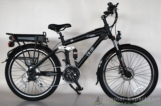 Электровелосипед с багажником
