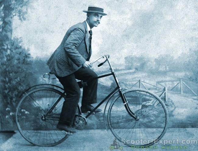 Картина с ретровелосипедом
