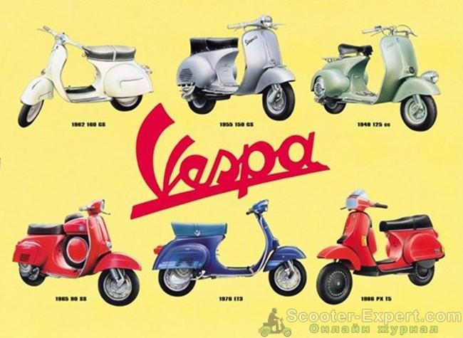 Реклама скутера Веспа