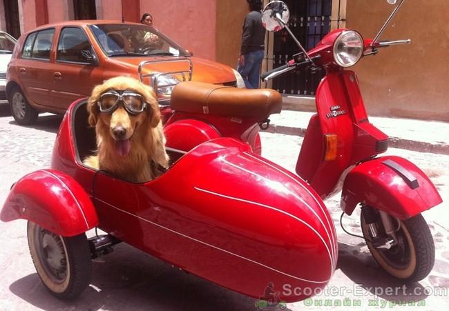 Скутер Веспа с коляской