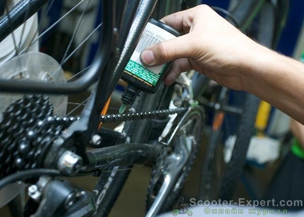 Обслуживание велосипеда - смазка цепи