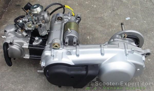 Снятие двигателя скутера