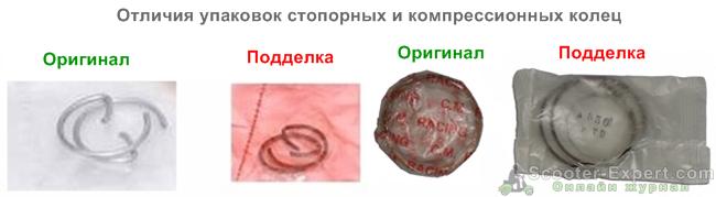 Отличие стопорных колец